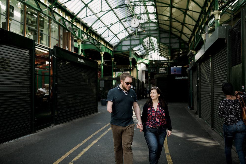 Engagement session at Borough Market