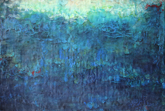 "Spring Lake,  encaustic on panel, 36"" x 24"",  Not for Sale"