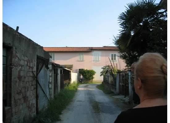 Grandma Rose returning to the house she was born in, in Lucca, Italy.