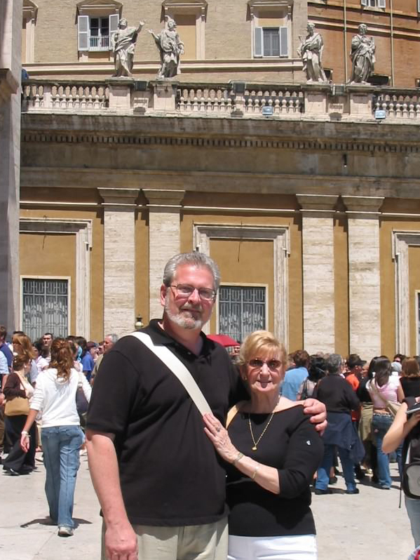 My Uncle Ken and Grandma Rose together in Italy in 2005.