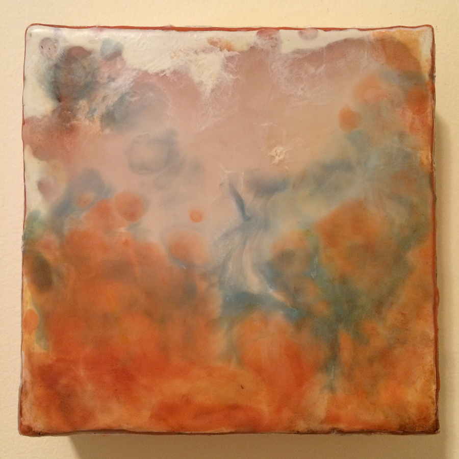 "Day Twenty-Three,  encaustic on panel, 6""x6"", 2014"
