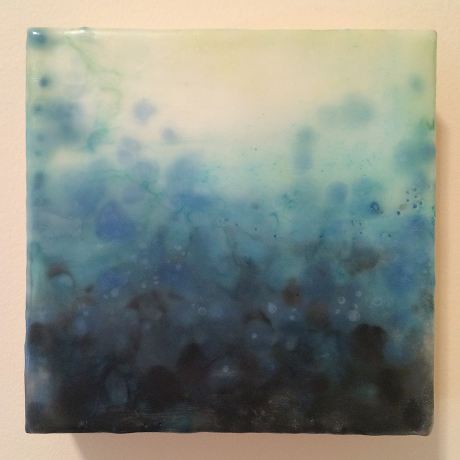 "Day Twenty-Four,  encaustic on panel, 6""x6"", 2014  SOLD"