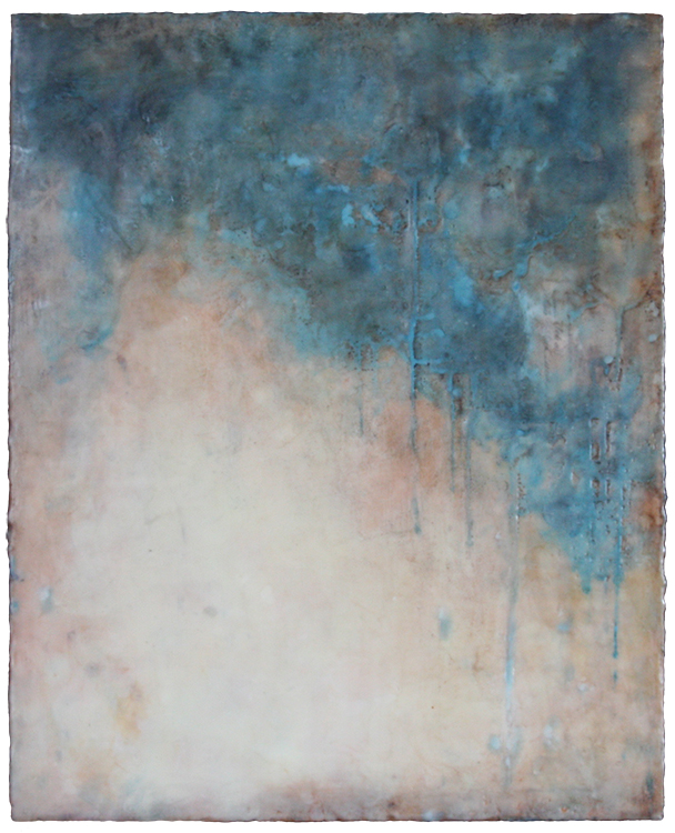Kari Hall, The Waves Upon Us, Encaustic, 20x16 inches