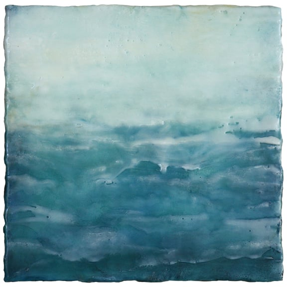 The Calm Beyond, encaustic, 8 x 8 inches, 2015
