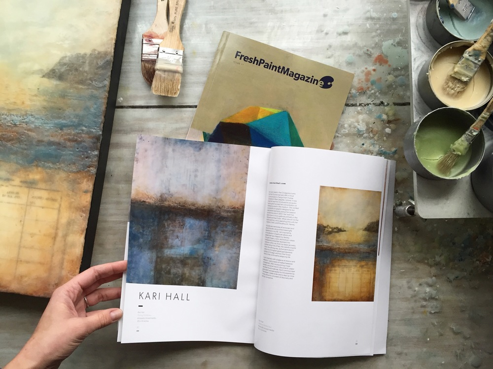 My work featured in Fresh Paint Magazine International Issue 11