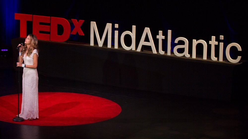 performing at 2017 TEDxMidAtlantic Conference