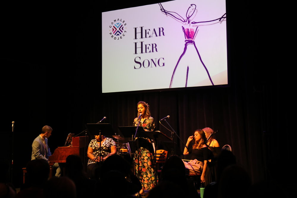 "performing in the West Coast premiere of The Canales Project's ""Hear Her Song"" at Hammer Theatre Center in San José, CA"
