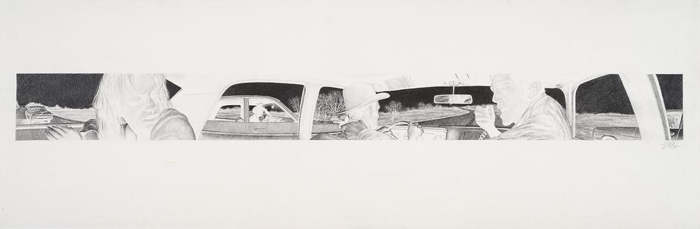 Sugarland Express Inverse Study 1973 Dodge Polara Backseat