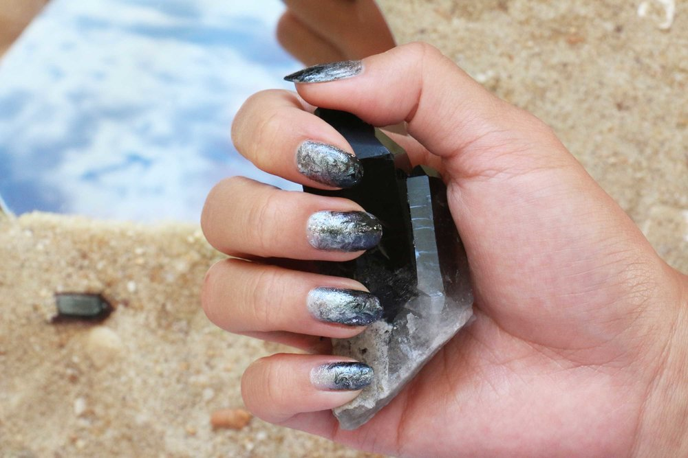 Smoldering Smoky Quartz aka The 'Keep Your Cool' Stone inspired manicure