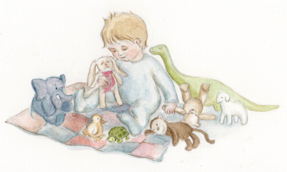 It seems like you can never have enough friends, but not all of them can sleep in one bed together. A watercolor illustration by Ella Lapointe