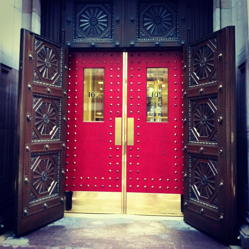 Boston Athenaeum Doors at 10 1/2 Beacon Street.