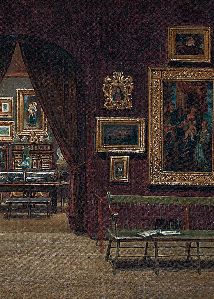 Enrico Meneghelli, 'Picture Gallery of the Boston Athenaeum', 1876. Photograph from the Boston Athenaeum.