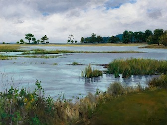 Phyllis Hewitt, 'Dafuskie Island', 22 x 30, Oil on Canvas.