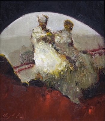 Danny McCaw, 'Red Rug', 16 x 12, Oil on Panel, 2012.