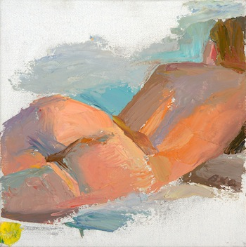 Brett Gamache, 'Reclining Figure', 9 x 9, Oil on Linen.