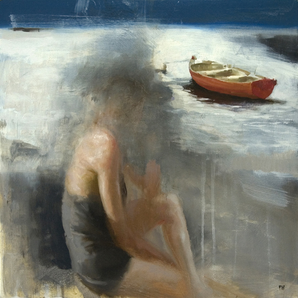'Breathing Brought Her Closer', 18 x 18, Oil on Panel, SOLD