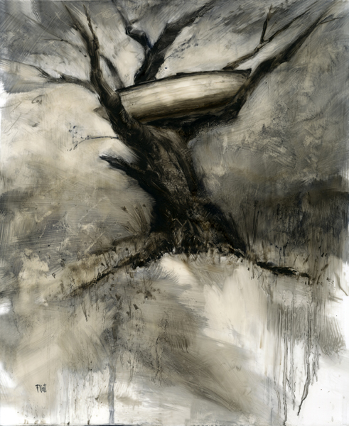 'Giving Tree', 17 x 14, Oil on Mylar, SMG ID #86