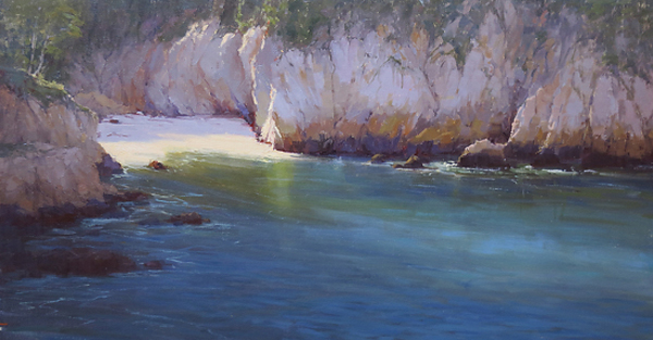 Kathleen Dunphy, 'Bluefin Cove', 18 x 36, Oil on Linen