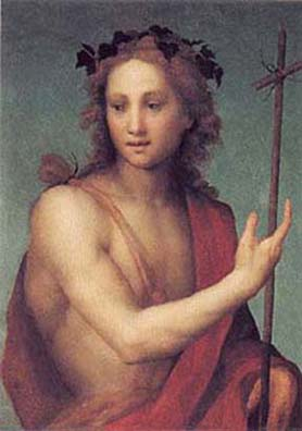 Andrea del Sarto, 'Saint John the Baptist', Oil on Panel transfered to Canvas, 1517