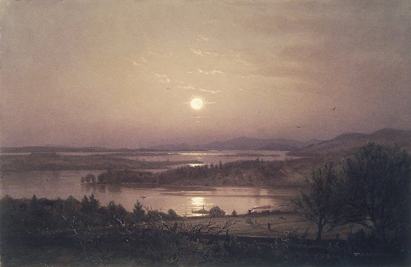 William Trost Richards, 'Lake Winnipesaukee', 9 x 13.5, Watercolor on Paper, c.1874, Brooklyn Museum Collection