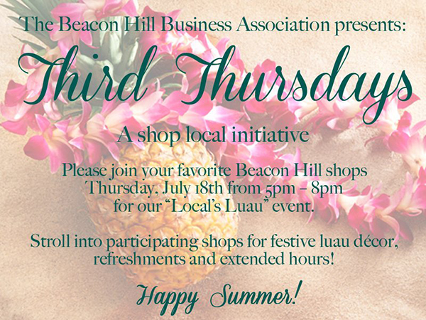 Beacon Hill Business Association Third Thursday