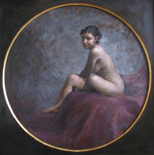 Leo Mancini-Hresko, 'Tondo', 28 x 28, Oil on Linen