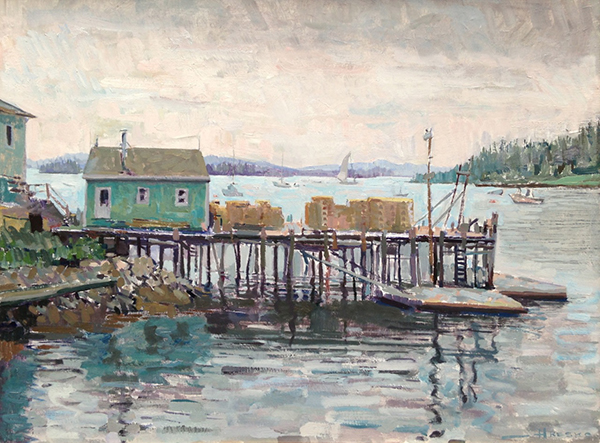 'Lobster Dock, Stonington', 24 x 31.5, Oil on Linen, 2013.