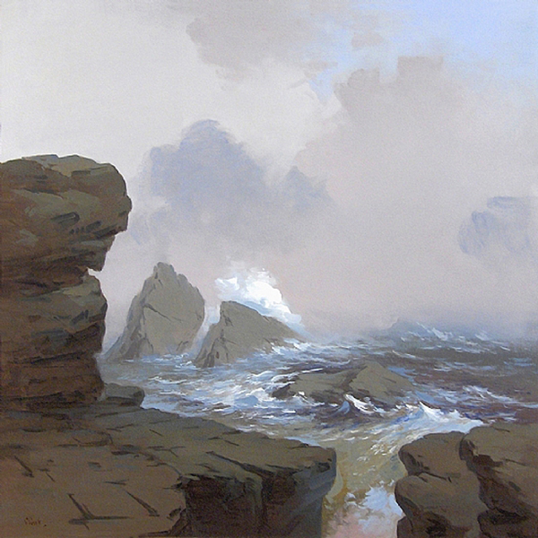 'Atlantic Surf', 36 x 36, Oil on Linen