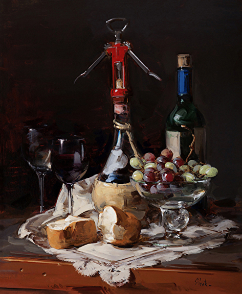 Thomas Torak, 'Bread and Wine', 24 x 20, Oil on Linen.