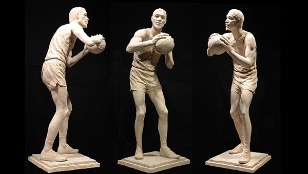 Central figure concept by Ann Hirsch for The Bill Russell Legacy Project
