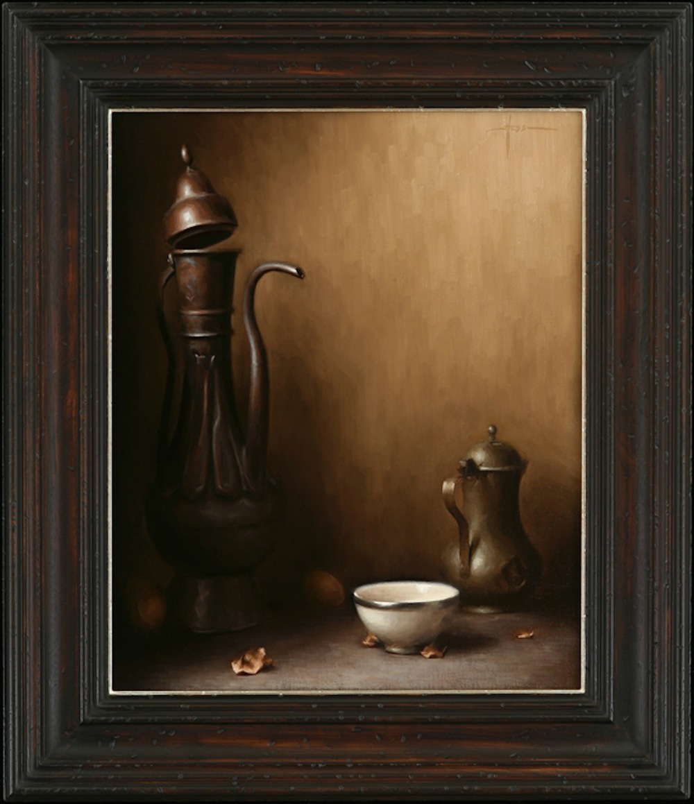 Justin Hess, 'Arrangement in Umber', 24 x 18, Oil on Linen
