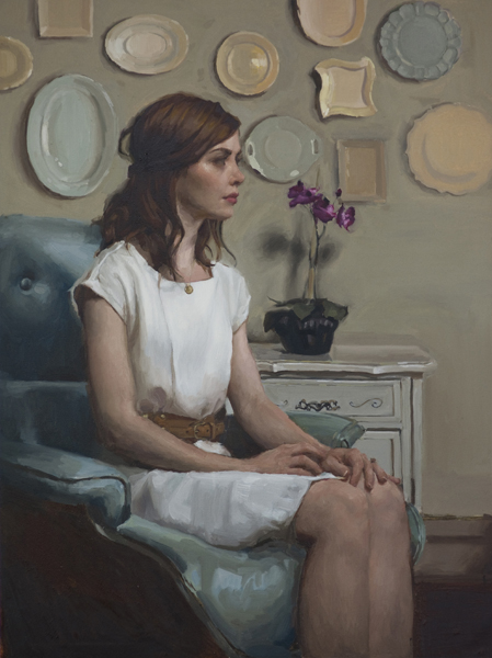 Mary Sauer, 'Erin', 40 x 30, Oil on Canvas, 2012