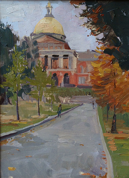 Leo Mancini-Hresko, 'State House', 16 x 12, Oil on Linen, $2,550.