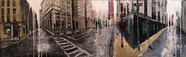 Gregory Prestegord, 'Intersections', 24 x 76, Oil on Panel, $7,650.