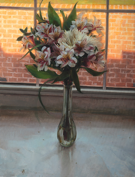 Daniel Robbins, 'Bouquet in a Window', 26 x 20, Oil on Canvas