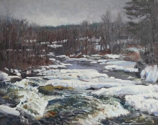 Greg Horwitch, 'Upper Falls', 24 x 30, Oil on Linen