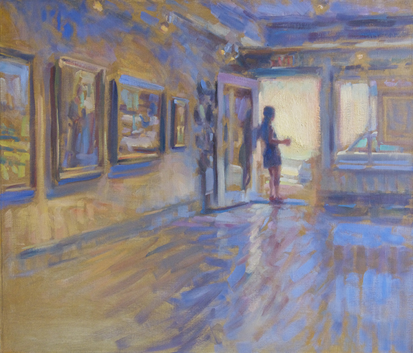 Greg Horwitch, 'Gallery in Summer', 24 x 28, Oil on Linen