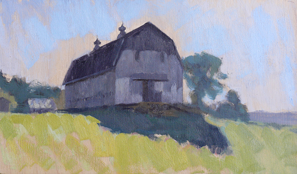 Greg Horwitch, 'Barn, Union', 7 x 12, Oil on Panel