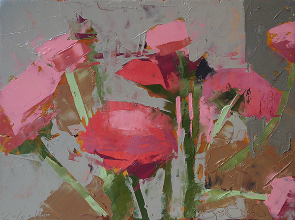 Jeremy Durling, 'Pink Ranunculus', 6 x 8, Oil on Panel