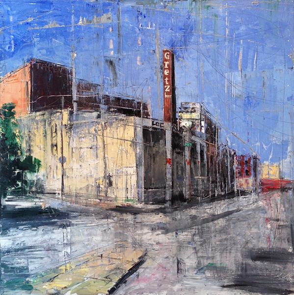 Gregory Prestegord, 'The Brewery', 48 x 48, Oil on Panel
