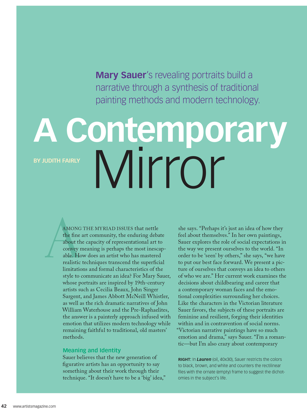 The Artists Magazine -- Mary Sauer Page 1.jpg
