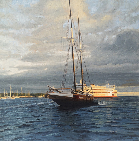 'Daybreak on the Harbor', 20 x 20, Oil on Linen, SOLD