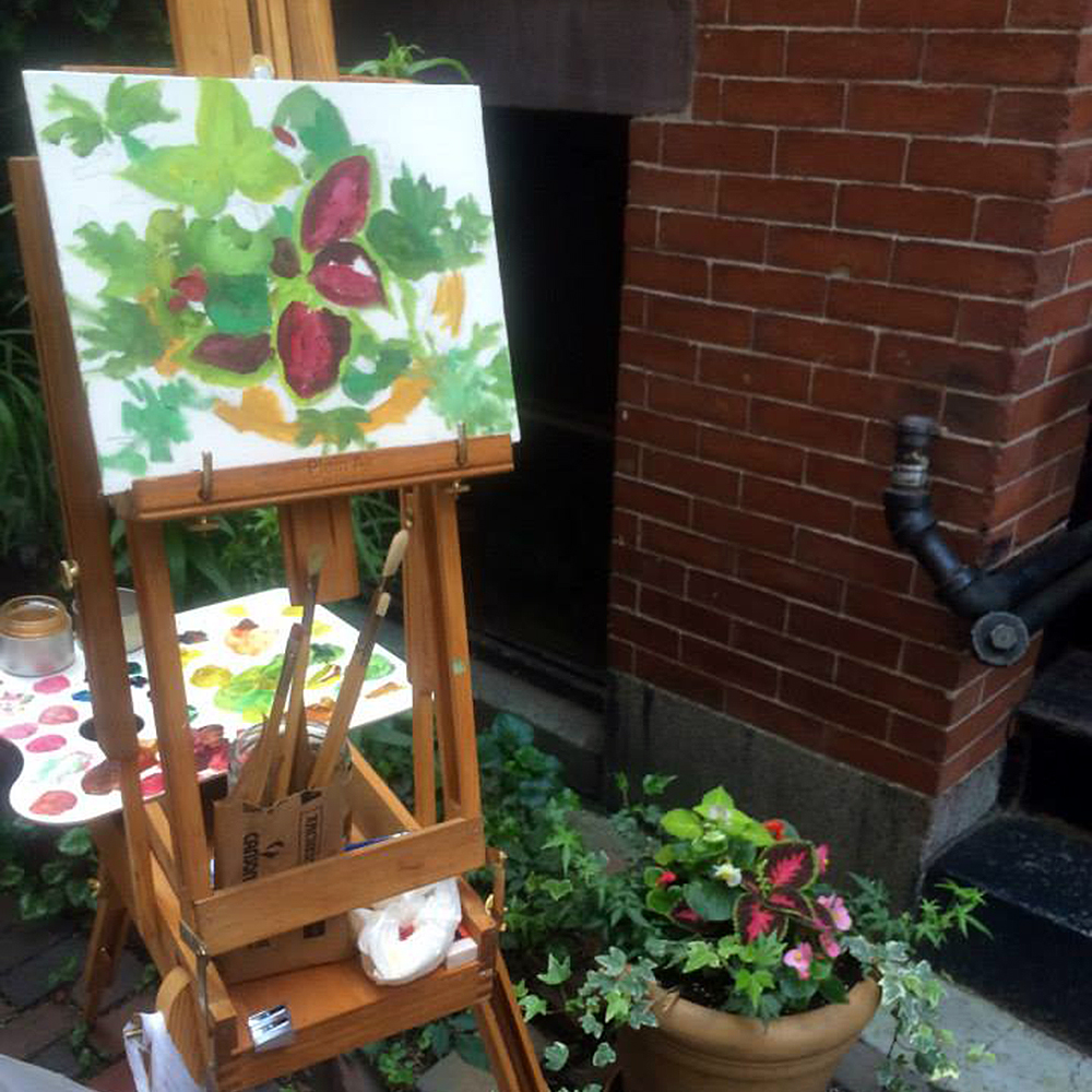 It's all in the details for Caroline Korthals' floral painting on Goodwin Place