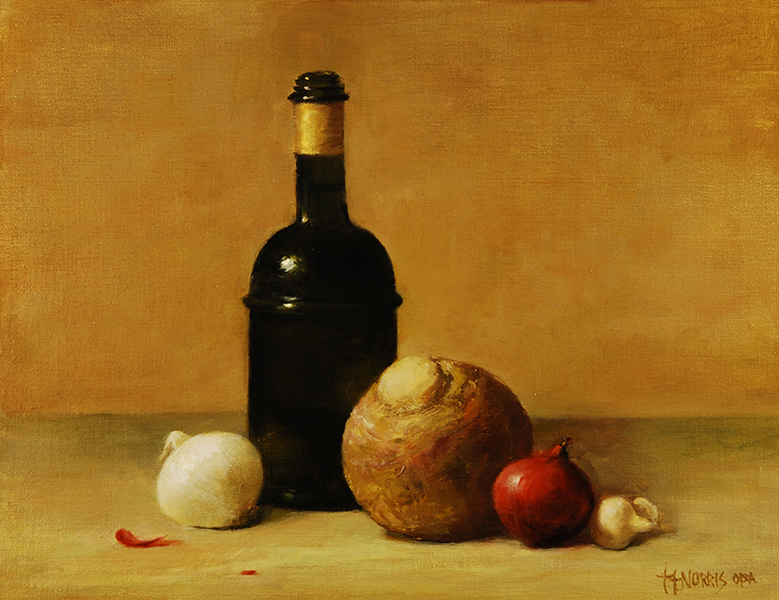 'Rutabaga with Olive Oil', 11 x 14, Oil on Linen on Panel, SMG ID #213
