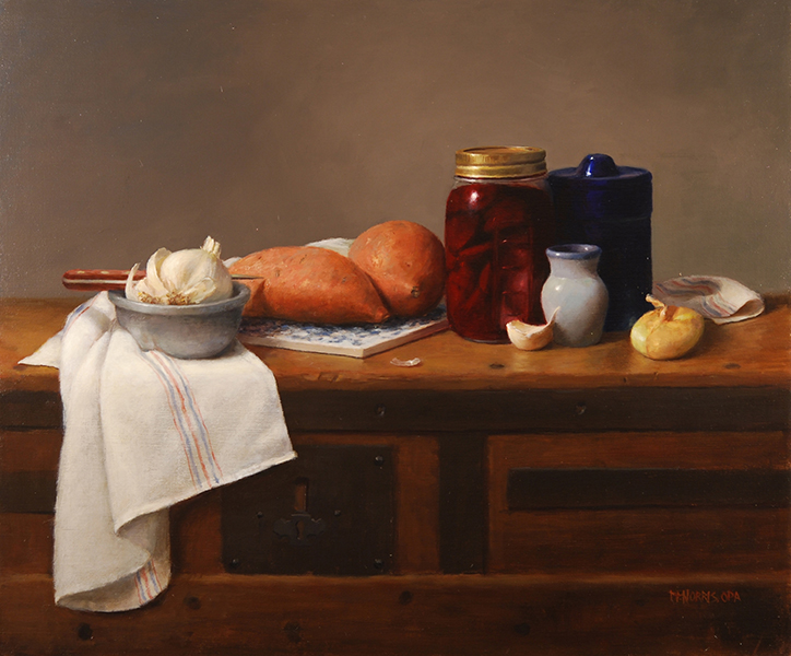 'Sweet Potatoes & Beets', 20 x 24, Oil on Linen, SOLD