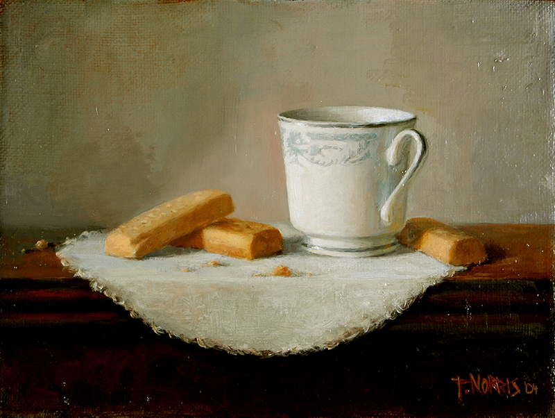 'Tea & Shortbread', 9 x 12, Oil on Linen, SMG ID #68