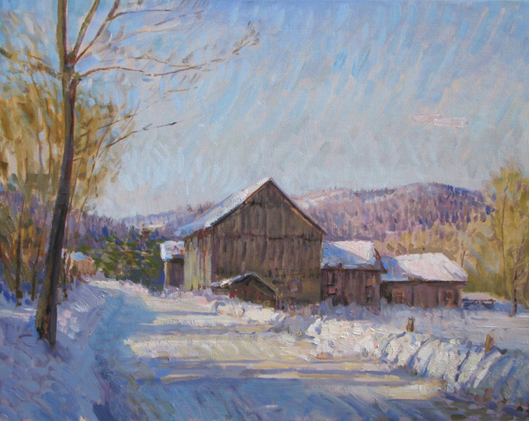 'River Road, VT', 24 x 30, Oil on Linen, SMG ID #735