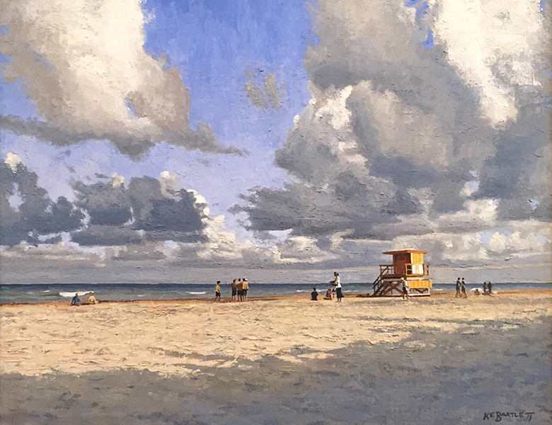 'Lifeguard Stand', 16 x 20, Oil on Linen, SOLD