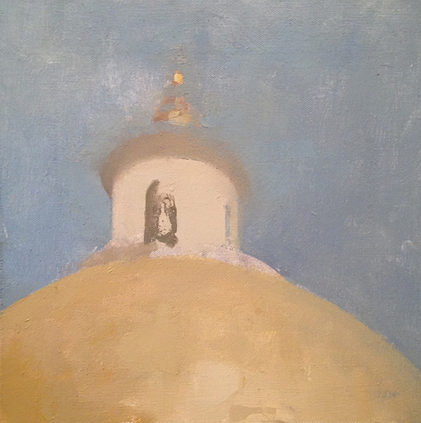 'Massachusetts State House', 10 x 10, Oil on Canvas, SMG ID #646