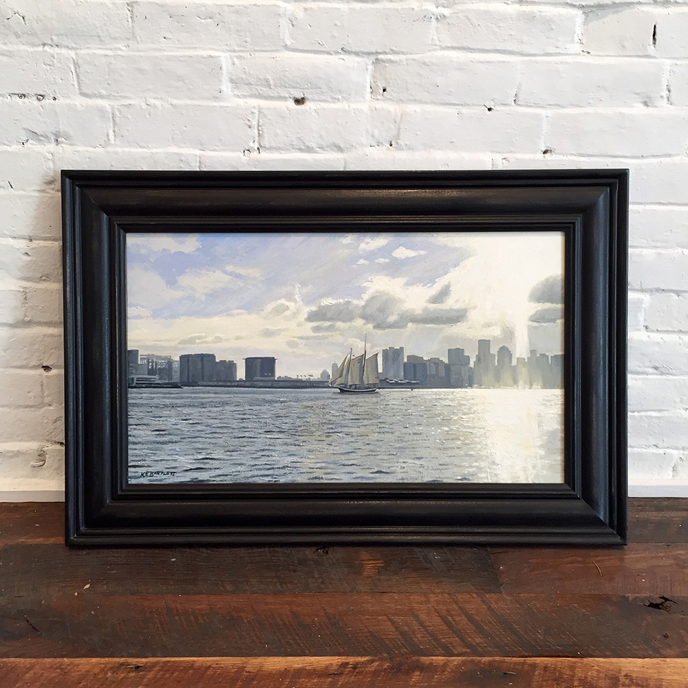Late Afternoon, Boston Harbor Framed.jpg